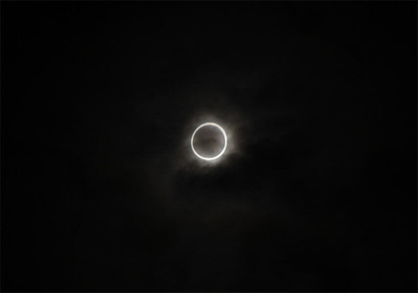 金環日食の写真